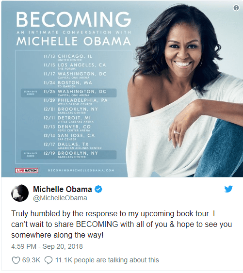 Over 40,000 people in the tickets queue for Michelle Obama's London talk