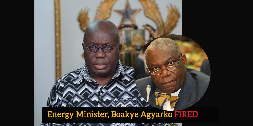 President Akufo-Addo sacks Energy Minister, Boakye Agyarko