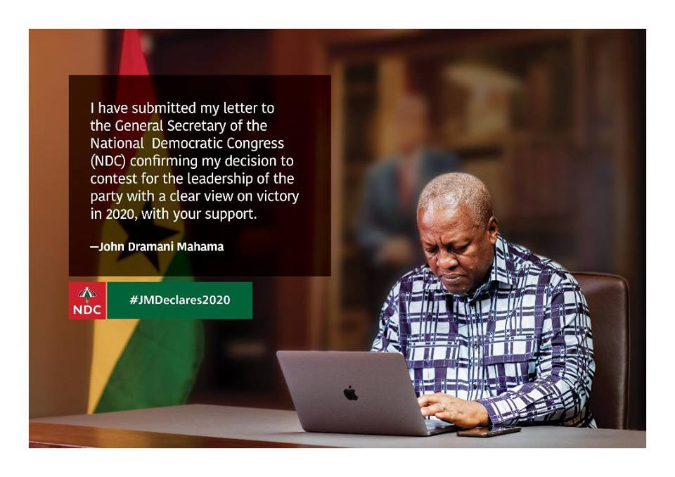 My comeback will end the increasing hardships in Ghana – Mahama