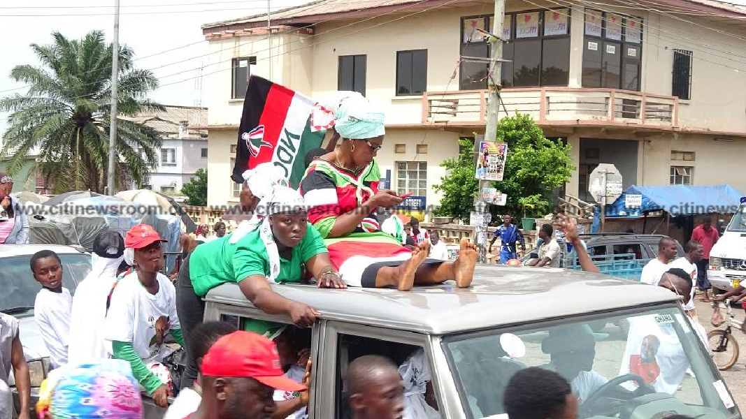 Ashanti Region: Yamin causes 'confusion' with macho men at NDC's elections