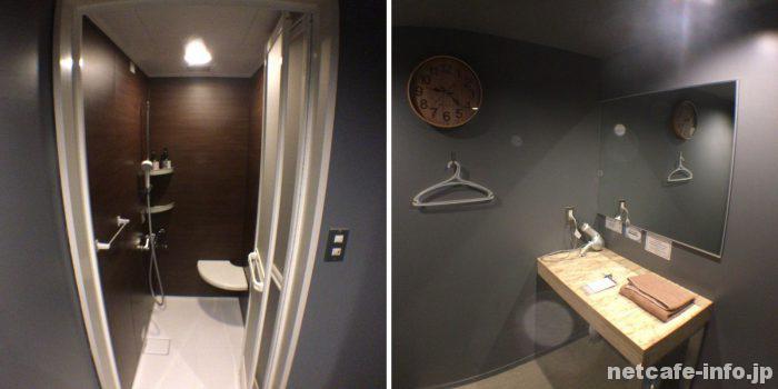 Booth新宿シャワールーム。カプセル宿泊者は1回300円
