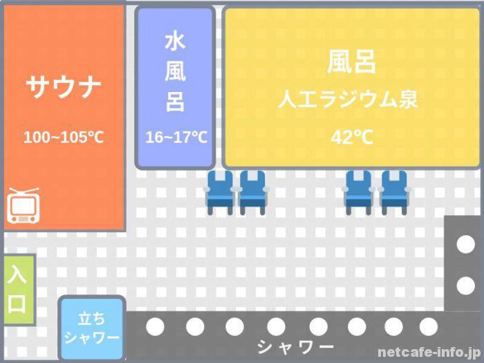 オリエンタル2の大浴場内のイメージ図