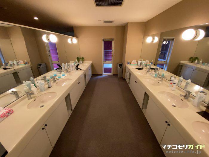 カプセル宿泊者専用の化粧室
