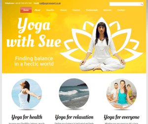 Yoga With Sue (web design portfolio)