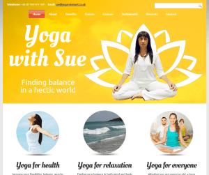 Yoga With Sue (web design portfolio)
