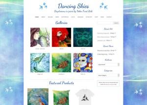 Dancing Skies (art portfolio & shop : web design & web development)