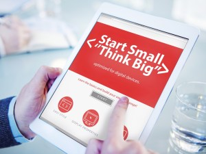 Small business website - start small, think big