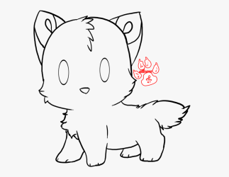 wolf easy drawing cute cliparts chibi cartoon netclipart pack