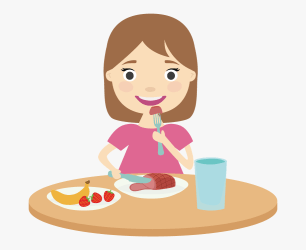 eating lunch breakfast eat clipart cartoon clip vector person transparent library tray ladies healthy cliparts netclipart clipground