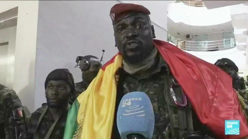 «Le président est avec nous», affirme le colonel guinéen Mamady Doumbouya