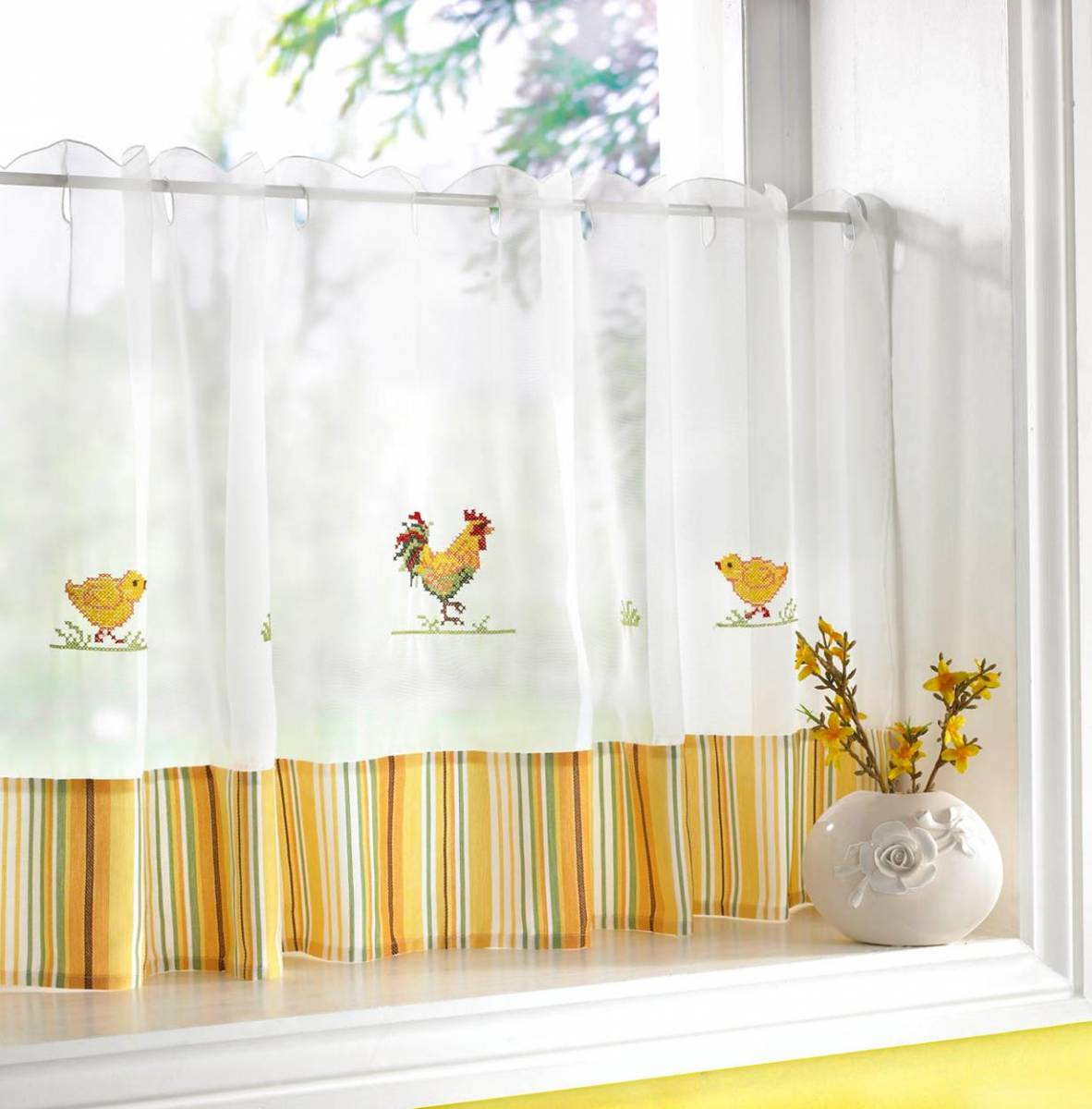cafe curtains for kitchen backsplash tiles chickens curtain width 60 net 2