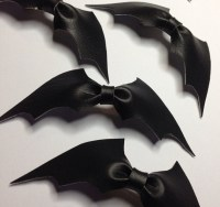 Leather Bat Bow Tie Or A Hair Accessory, Its Cool Either Way