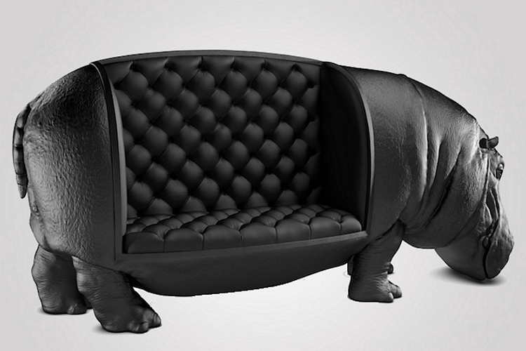 hippopotamus chair