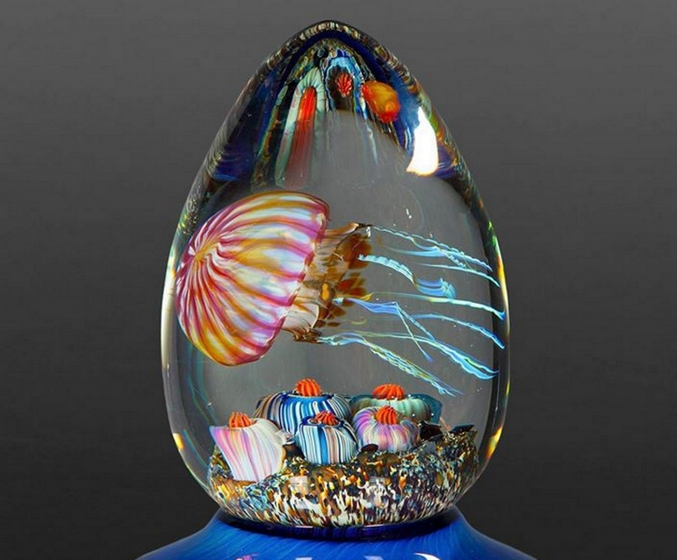 cool gaming chair rolling desk chairs rick satava's jellyfish glass sculptures