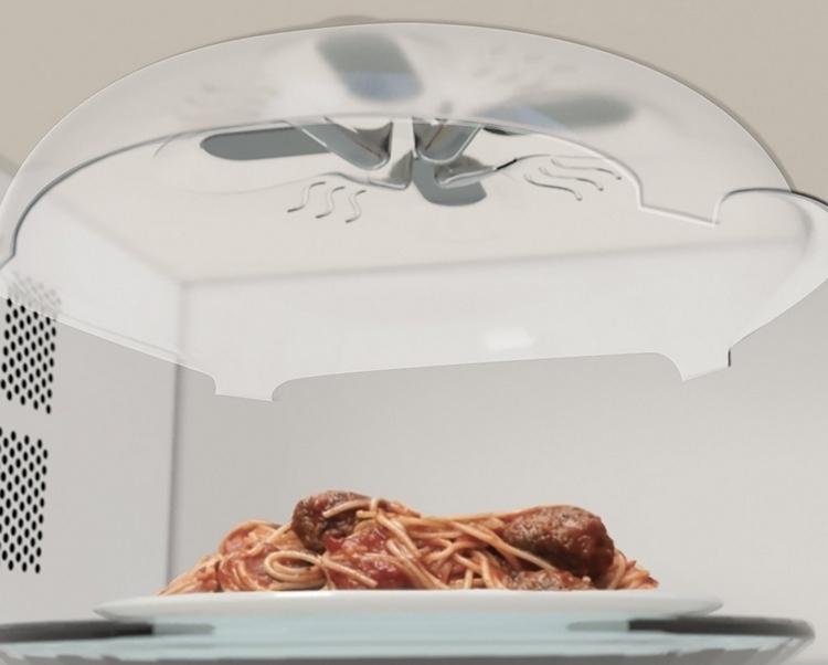 hover cover microwave splatter shield