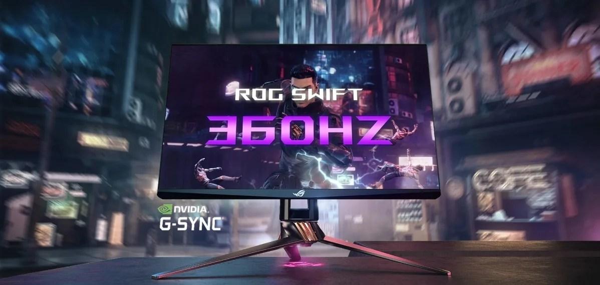 【News】ASUS-360hz駆動の次世代フルHDモニター「ROG Swift 360」を発表。N-VIDIAとの共同開発により性能を大幅に向上させる