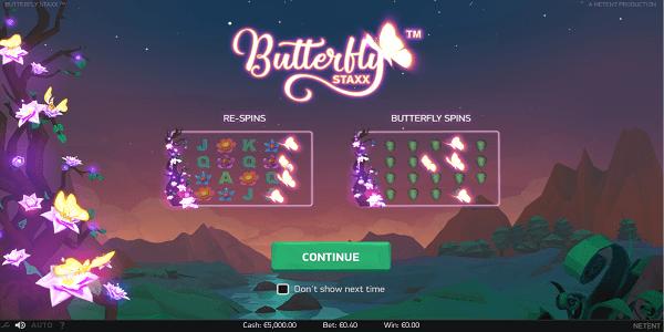 Butterfly Staxx Netent Slot