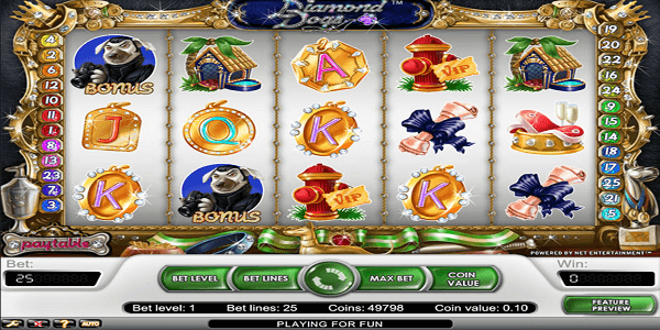 Diamond Dogs Netent Slot