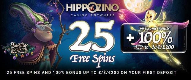 Hippozino Casino Free Spins & Bonus