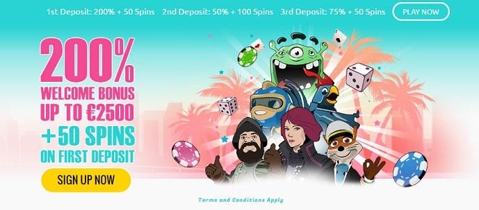 Miami Dice casino welcome offer