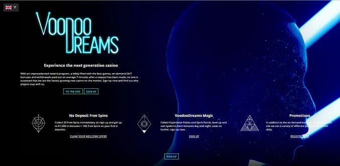 Voodoo Dreams Casino promotions