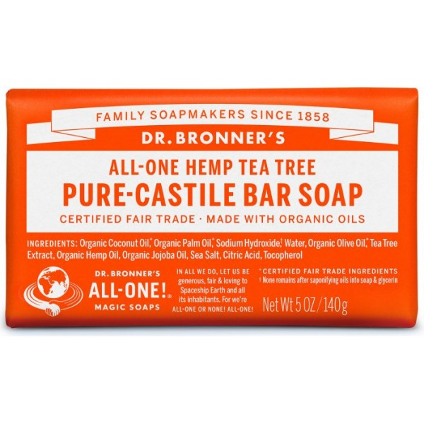 PURE-CASTILE BAR SOAP TEA TREE