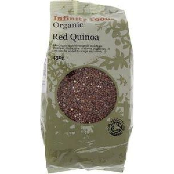 Organic Red Quinoa Grains Infinity Foods
