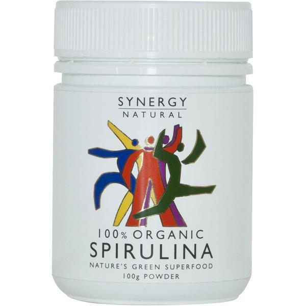 Organic Spirulina Synergy Natural 100g powder