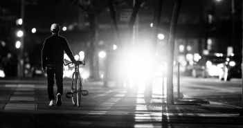 bicycle bike black and white street