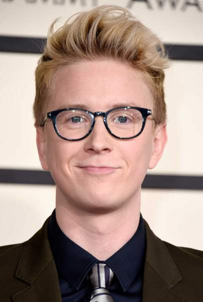 LOS ANGELES, CA - FEBRUARY 08:  Internet personality Tyler Oakley attends The 57th Annual GRAMMY Awards at the STAPLES Center on February 8, 2015 in Los Angeles, California.  (Photo by Jeff Vespa/WireImage)