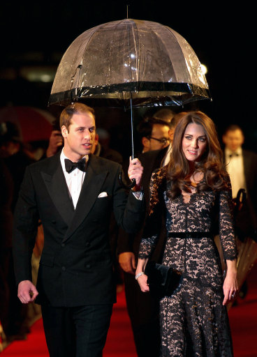 The Duke and Duchess of Cambridge arriving for the UK premiere of War Horse, at the Odeon Leicester Square, London.