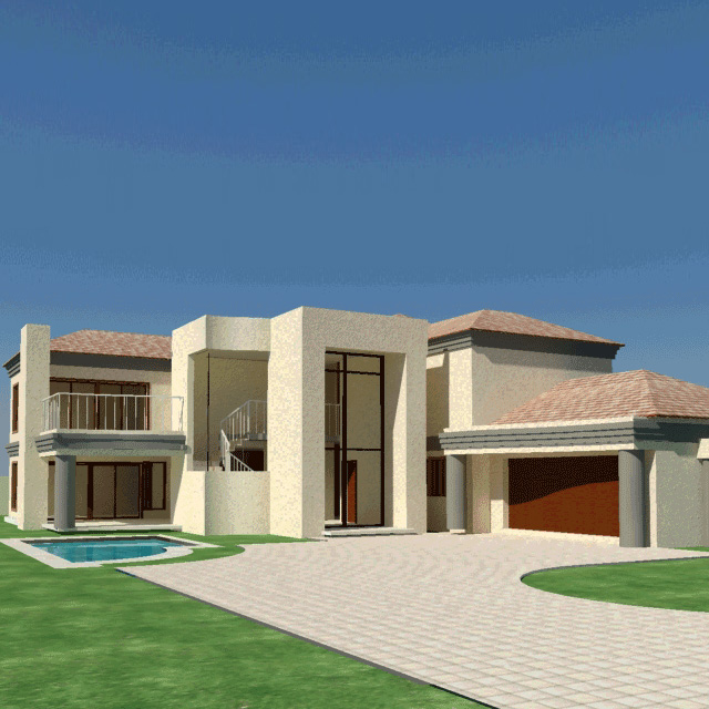 Top 5 Modern Garage Designs: House-plan-South-Africa-4-bedroom-house-plan-Nethouseplans