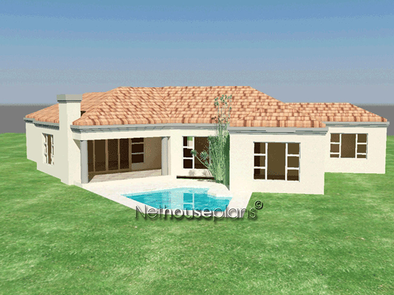 3 Bedroom Tuscan Home Design Modern Tuscan Style House Plan, 3 Bedroom ,  Single Storey
