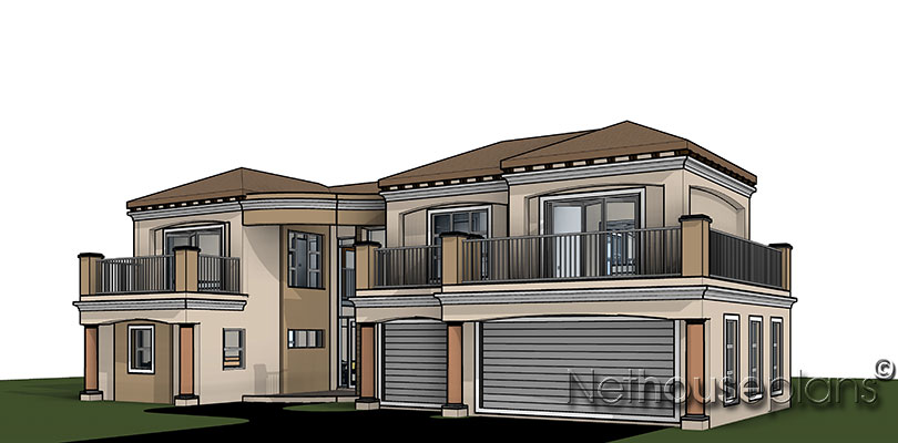 433m2 Double Storey House Plan | South African Designs ...