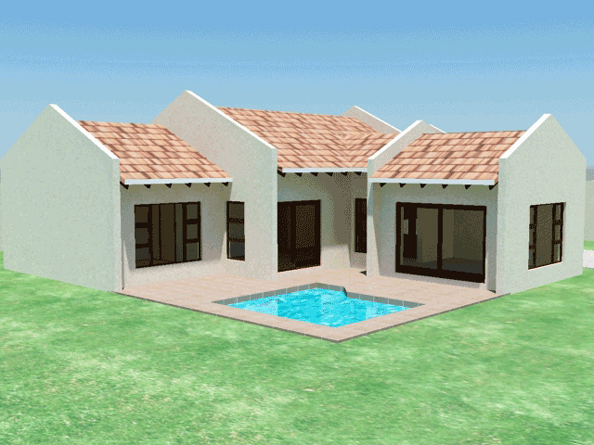 Small House Plan | 3 Bedroom House Plans - TR158 ...
