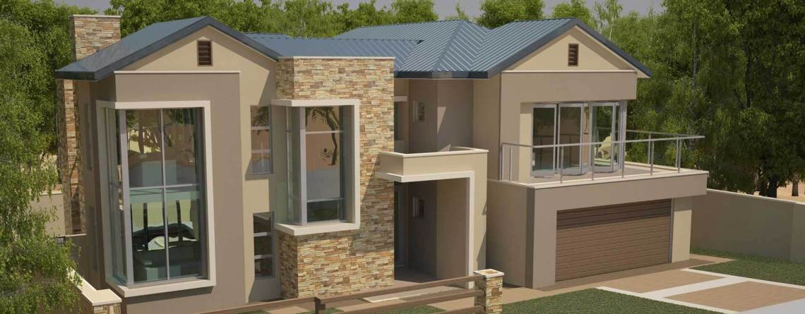 Modern Contemporary Style House Plans  Bedroom Double Storey Floor Plans Modern