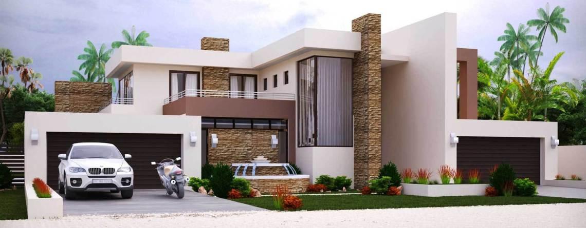 Modern Style House Plan  Bedroom Double Storey Floor Plans Home Design