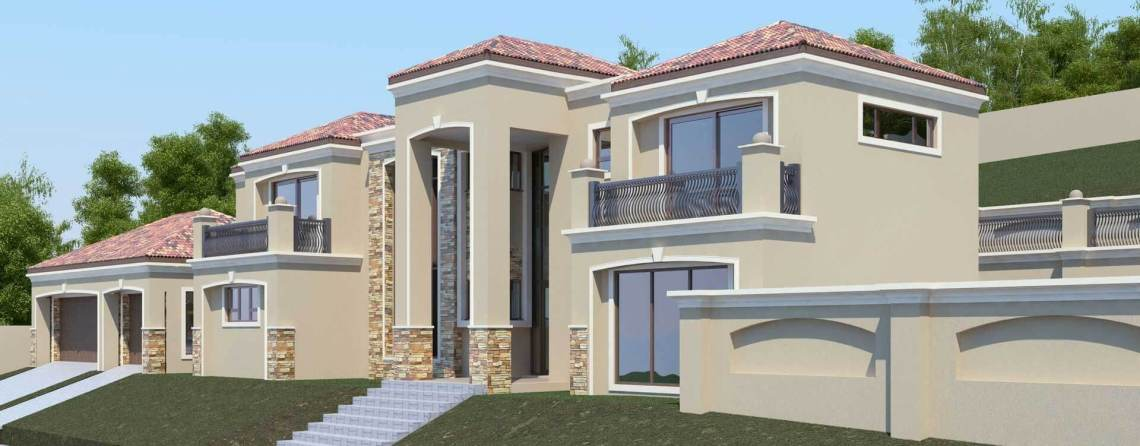 Modern Tuscan Style  Bedroom House Plan Double Storey Floor Plans Nethouseplans Architectural