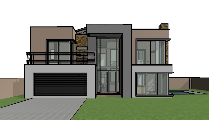House plans south africa House design_M301D- 3D View 1 ...