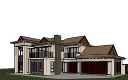 4 bedroom house design, 466m2 double storey house plan design, 466sqm house plan with photos, Bali architecture designed house plan, south africa, Nethouseplans
