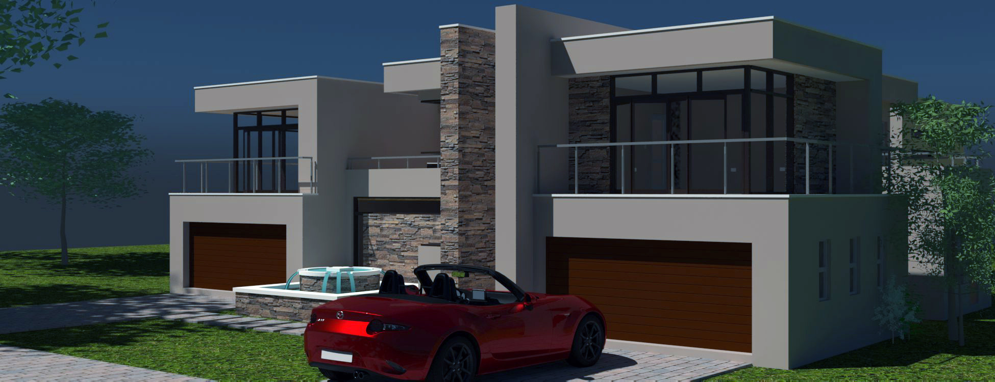 2 Storey House Design | Modern Style 4 Bedroom House ...