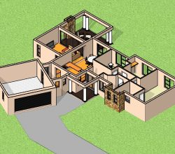 3 Bedroom House plan, architectural designs south africa, 3 bedroom house designs south africa, single storey house plans
