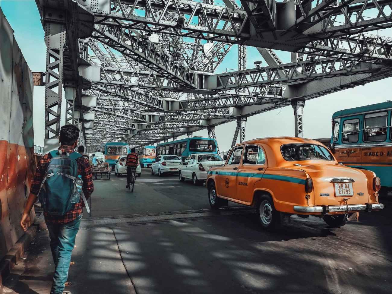 city road traffic people
