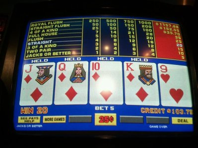 When Video Poker Machines Hesitate