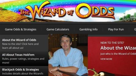 Michael Shackelford, the creator of the Wizard of Odds