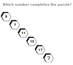 facebook puzzle – Which Number completes