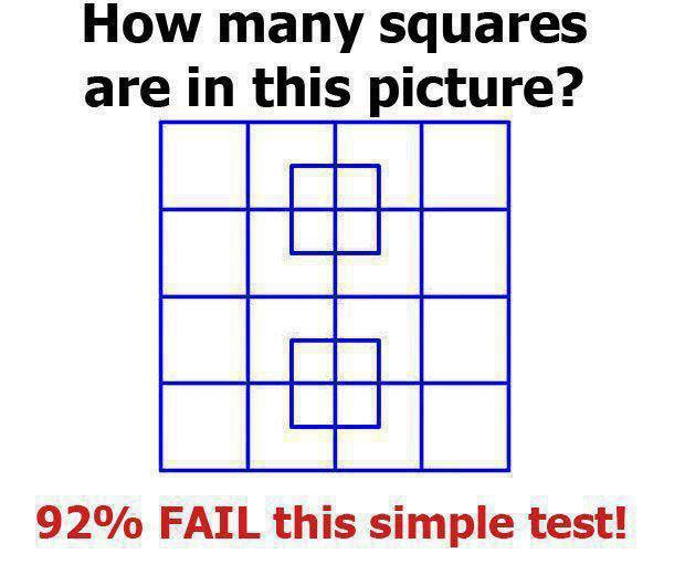 Visual Puzzle – How many squres