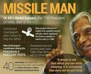 Dr. Abdul Kalam Inspiring Quotes