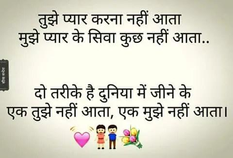 Hindi Shayri -तुझे प्यार करना नहीं