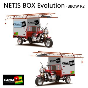 NETIS FTTH Tricycles for CANAL Box